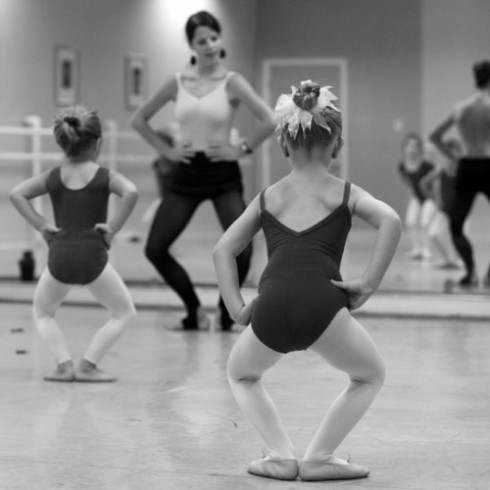 little girls doing ballet