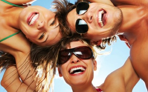 summer happy people