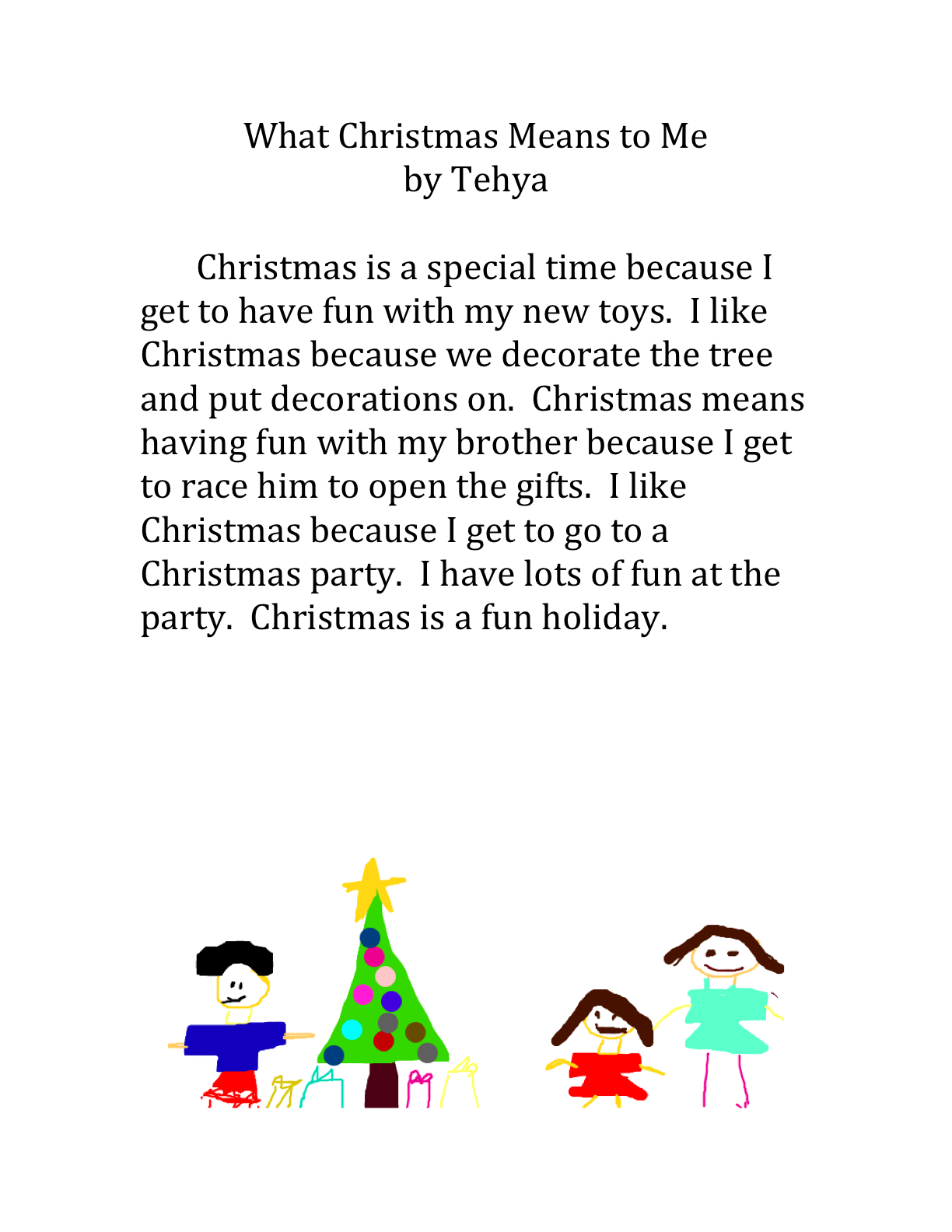 what christmas means to me by tehya | nicesimplethings